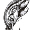 Dessin tatouage dragon celtique