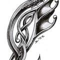 Dessin tatouage dragon celtique