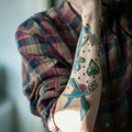 Tatouage coloré bras