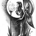 Dessin tatouage fée celtique