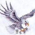 Dessin tatouage aigle