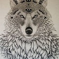 Dessin de tatouage loup