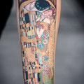 Tatouage Gustav Klimt Le Baiser