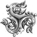 Dessin tatouage triskel dragon