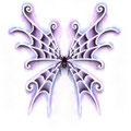 Dessin tatouage araignée et ailes de papillon