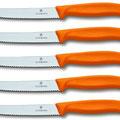 Vicotrinox, coltelli da tavola lama seghettata, vendita singola, colori assortiti