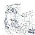 tuširanje / taking shower