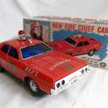 New Fire Chief Car - Masudaya - Japan -1970 (con sirena acustica)
