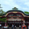 The actual shrine at Fushimi-inari Jinja