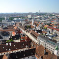 View of Vienna from the top of Stephansdom.