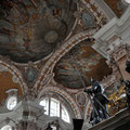 The ceiling, with the monument to Archduke Maximilian III in the foreground.