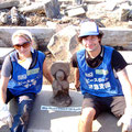 Lori and Daniel with the Buddha.