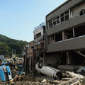 Damage by the shore in Onagawa.