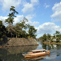 A boat tour around the moat of Matsue Castle
