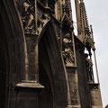 Discoloured saints on the west side of Stephansdom.