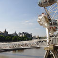 The London Eye over the Thames