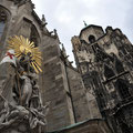 Monument on Stephansdom's east side.