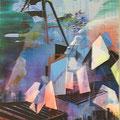 Bergwerk-Blues 2012 Acryl/LW 150x115 cm