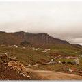 Uitzicht op de Tibetaanse hoogvlakten.