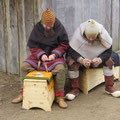Holzarbeiten mit Wulf in Haithabu