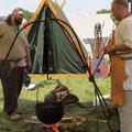 ...und  fand in Darri und Cathal zwei willige Kochknechte