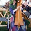 Der Spinnentöter kam zu Besuch und spielte traumhafte Weisen auf der keltischen Harfe...
