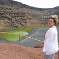 Kein Kitsch. Der See ist tatsächlich so grün!