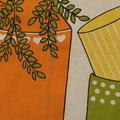 彩度を落として写真をとると葉っぱの下に縦にラインが見えます
