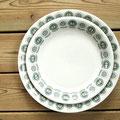 大皿(ø22.8cm)と重ねてサイズを比べてみたところ