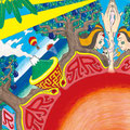 『昇る朝日』 小牧のBAR RIZZRA イベントフライヤー用イラスト
