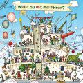 """Wimmelbild-Geburtstagstorte, Erstnutzung """"Haus der kleinen Forscher"""", Plakat"""