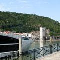 le quai du Rhône à Tain l'Hermitage et Tournon