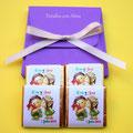 4 napolitanas de chocolate presentadas en cajita