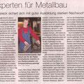 Experten für Metallbau NZ 2012