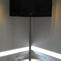 mobiles Edelstahl Stativ für Plasma TV