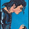 Blue Mickael, acrylique sur toile 10x7cm-2013