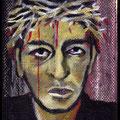 Mini suffering man, acrylique sur toile 10x7cm-2013