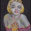Mini Marilyn, acrylique sur toile 10x7cm-2013