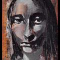 Mini Mona-Lisa, acrylique sur toile 10x7cm-2013
