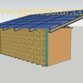 Contre-mur brique sèche