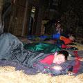 Im Stroh lässt sich gut schlafen.