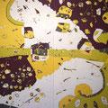 海の中道  185×166cm  綿布  日本新工芸展・読売テレビ放送賞