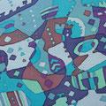 ツボパタ 15.8×22.7cm 綿布 立松功至 染色展「29」