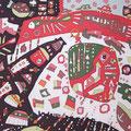 マイ・ワールド 36.4×51.5cm 綿布 漆・日本画・染色の協奏曲