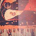 川の流れの如く  185×166cm  綿布  RO-MAN染色展・明日をになう西宮の作家展