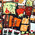 トリのメキシコ人-第6幕- 120×240cm 綿布 立松功至 染色展「29」、artDive♯04