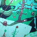 マリンウォーカー 185×249cm 綿布 ro-man 蝋染展