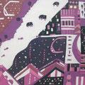 夢先案内人 36.4×51.5cm モスリン 漆・日本画・染色の協奏曲