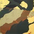 池上の星  185×334cm 綿布/京都芸大制作展・小合賞 京都市動物園、深泥池にてスケッチ