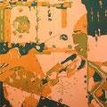 サンライト  185×166cm 綿布/京都芸大大学院 染織10人展